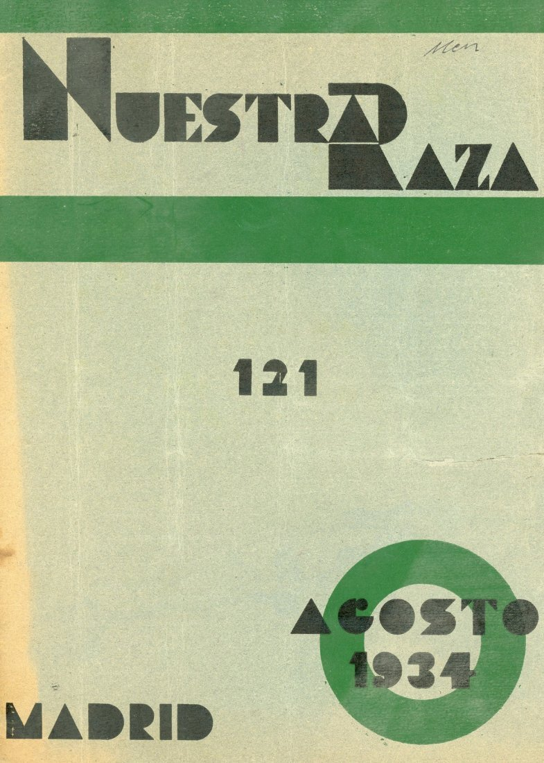 "Issue of ""Nuestra Raza"" - Madrid, 1934"