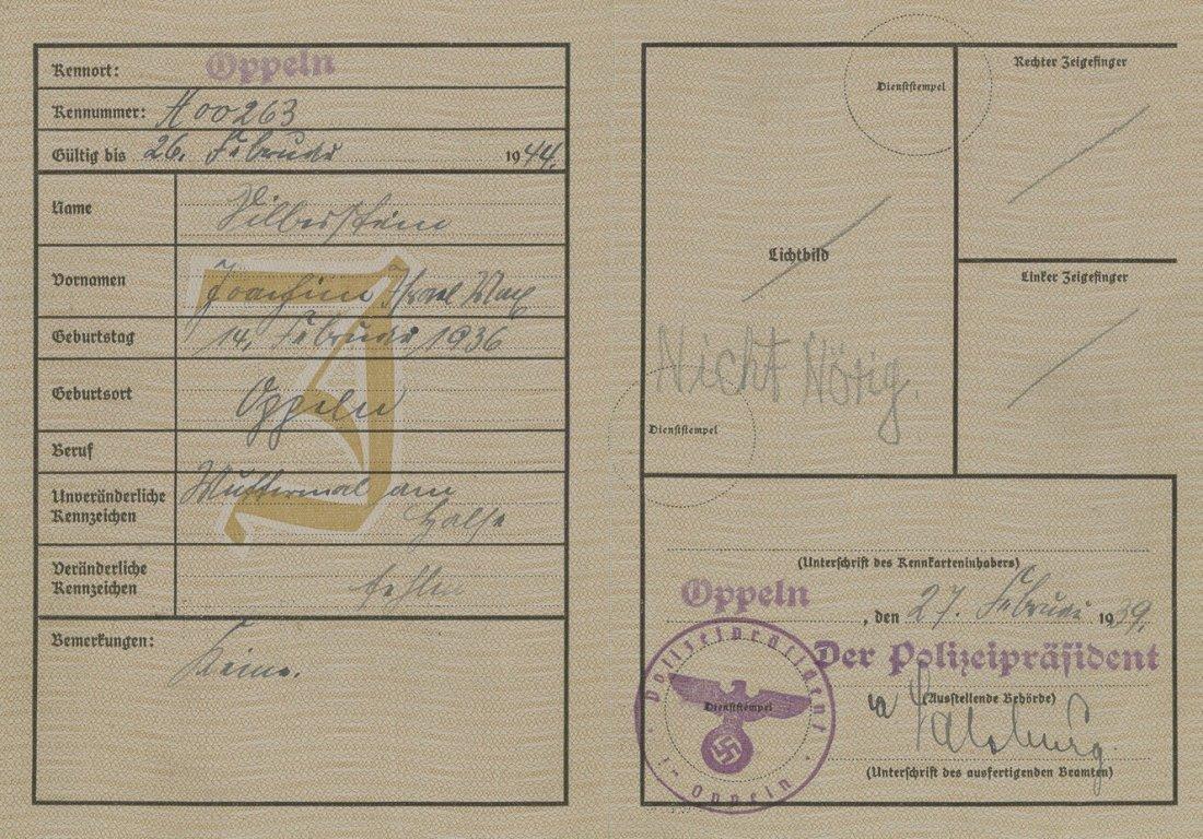 Identity Card of a Jew - Germany - 1939