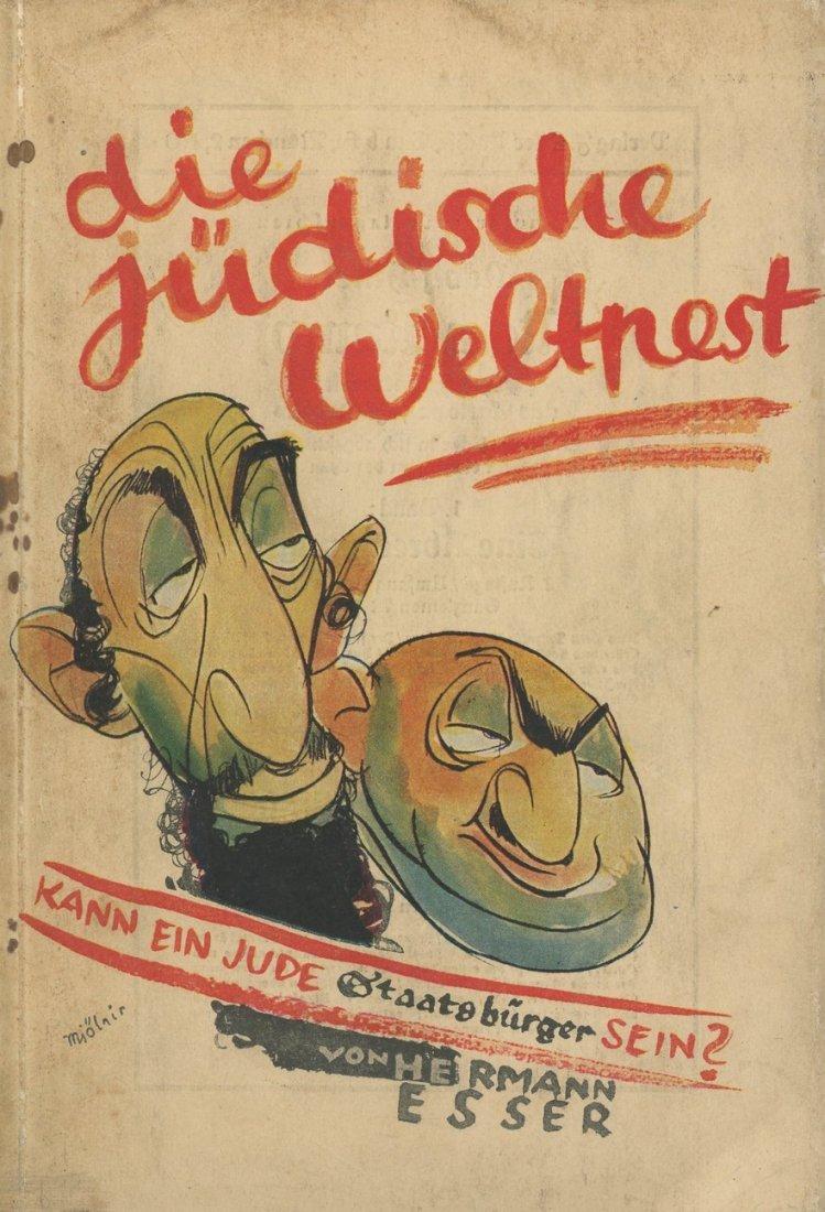 """Anti-Semitic Book - """"Jewish World Plague """" - Munich,"""