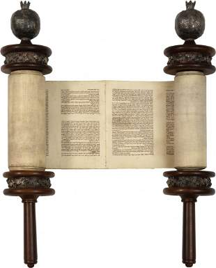 Small Torah Scroll - Central Europe, 18th/19th Century