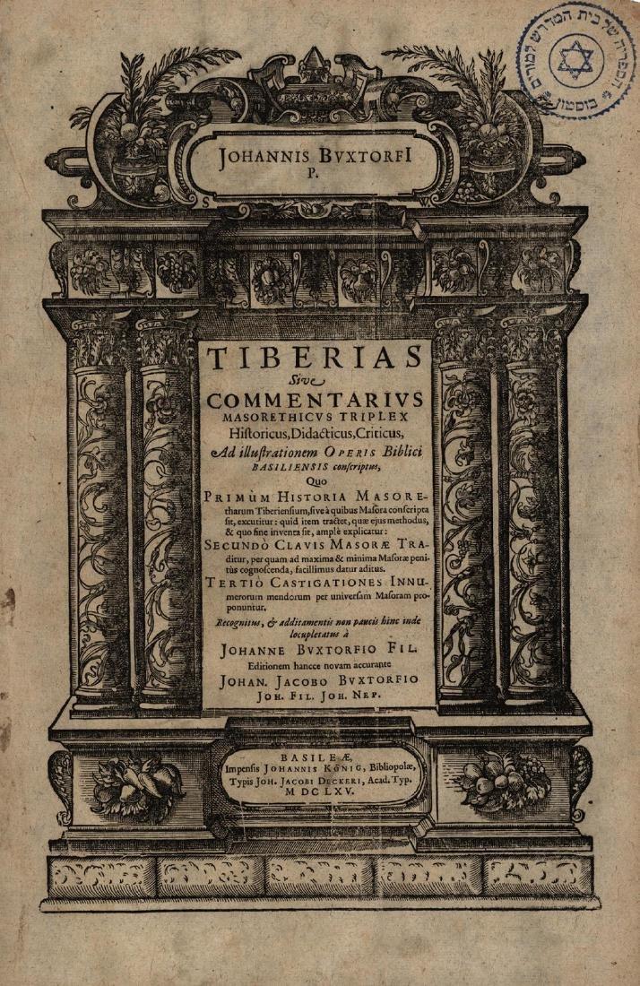 Concordance and Book of Tiberias - Joannis Buxtorfi -
