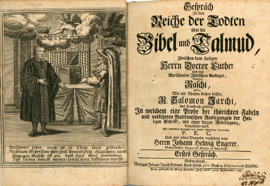 Two Books - Jewish-Christian Polemics - 1647-1737