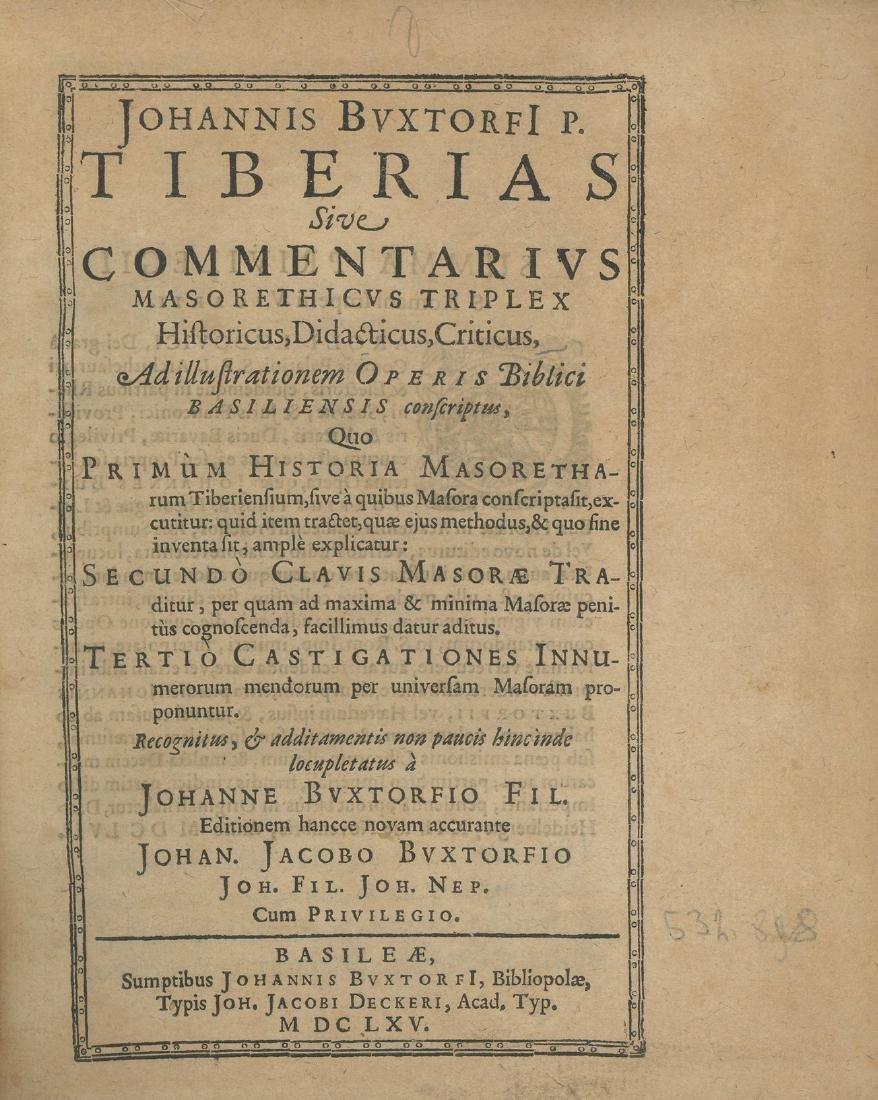 Tiberias Commentarius - Johann Buxtorf - Basek, 1665