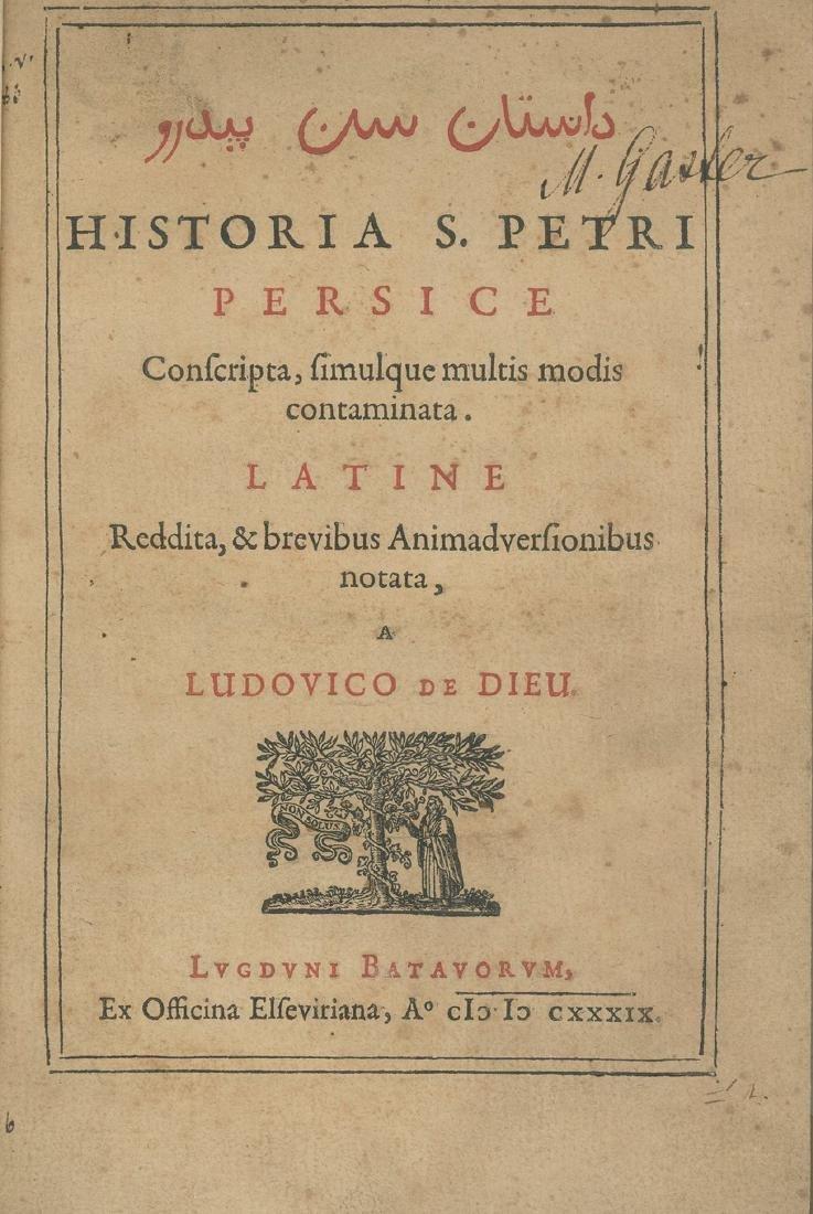 """History of Saint Peter"" - Ludovico De Dieu - Leiden,"