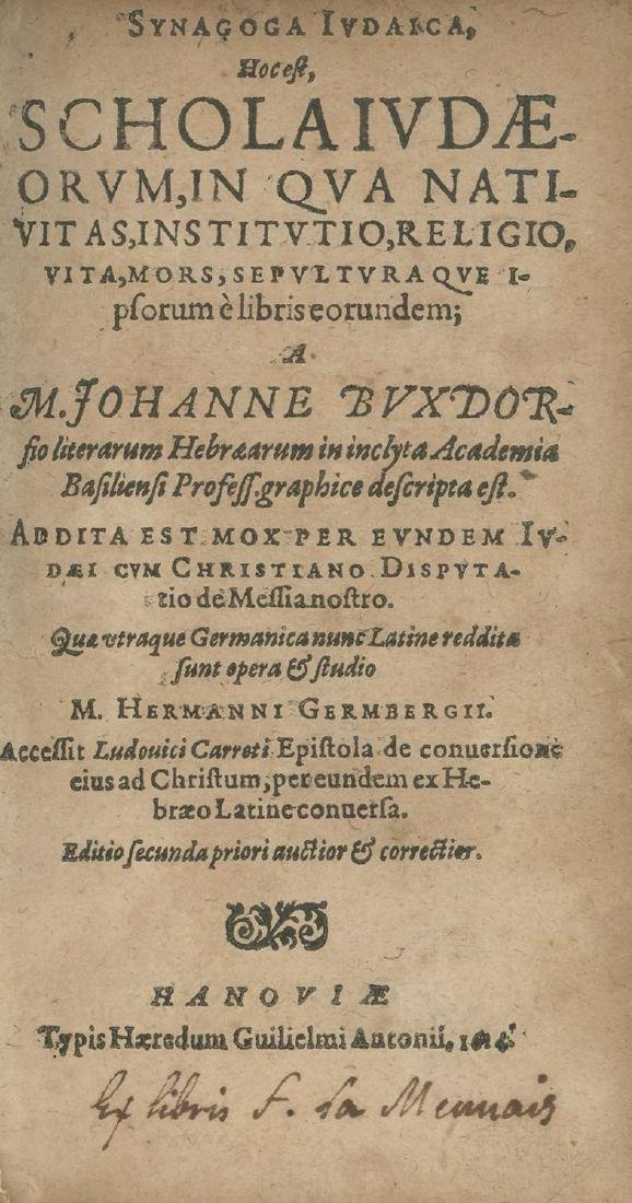 Synagoga Judaica - Anti-Semitic Book - Germany, early