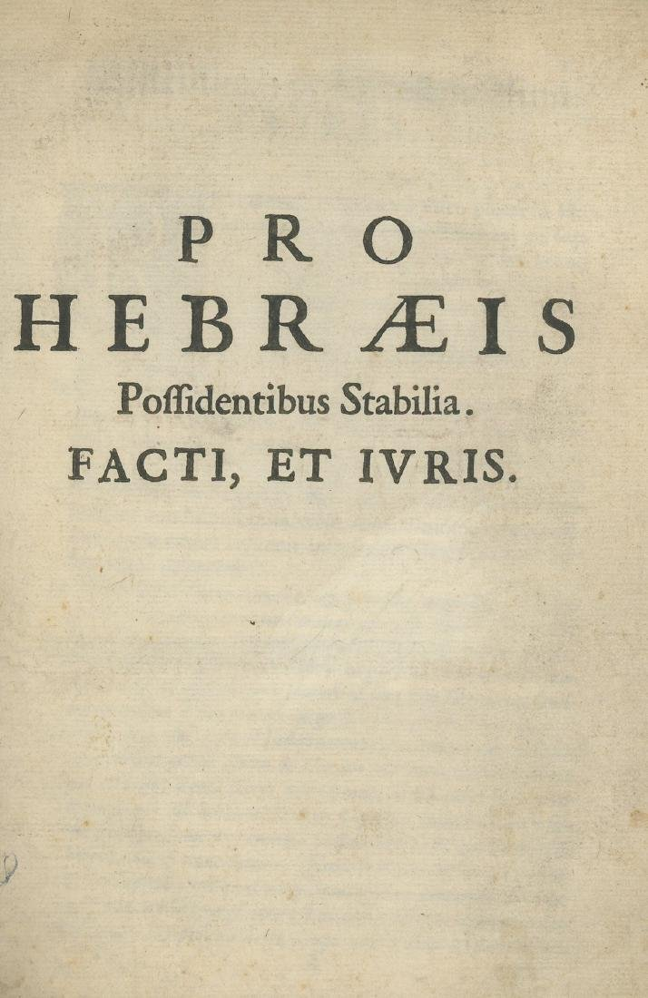 Document About Rights of Jews - Europe, Late 17th -