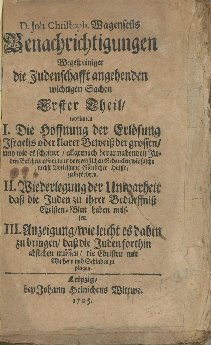 Monograph about Jews - Johann Christoph Wagenseil -