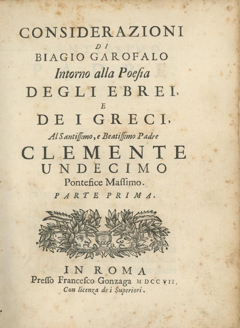 Considerazioni di Biagio Garofalo - Rome, 1712