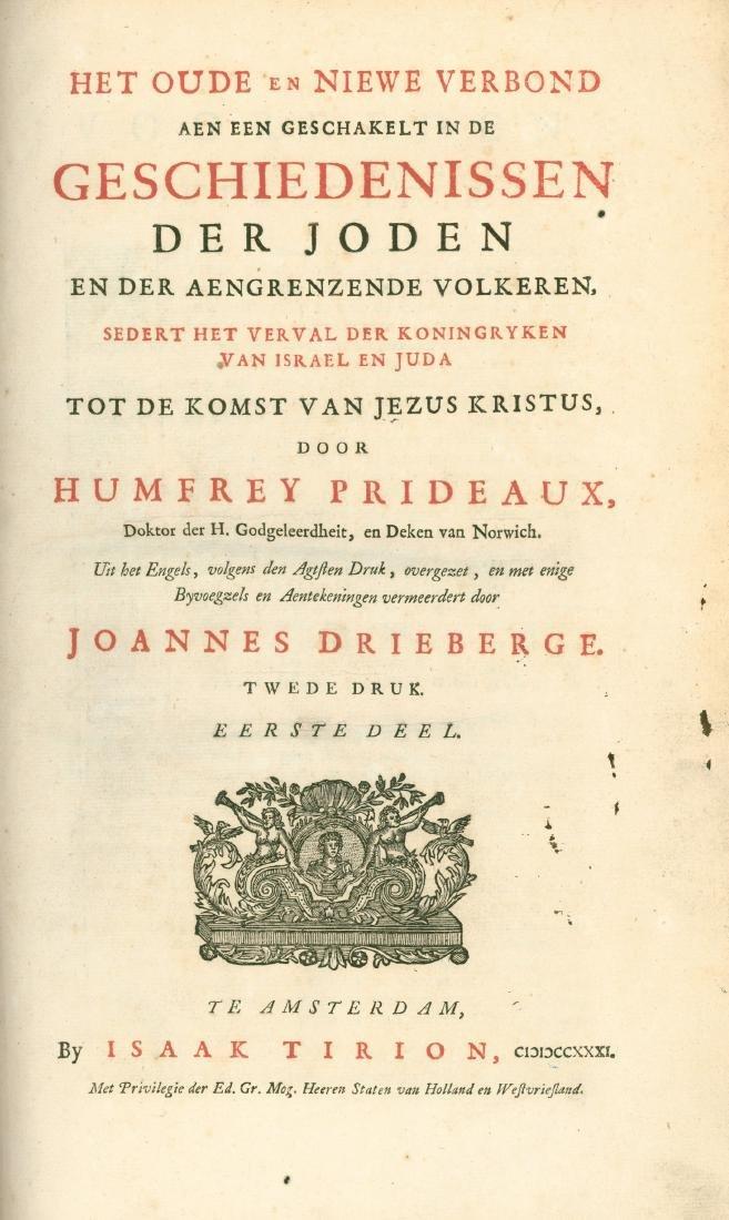 """History of Jews"" - Humphrey Prideaux - Amsterdam, 1731"