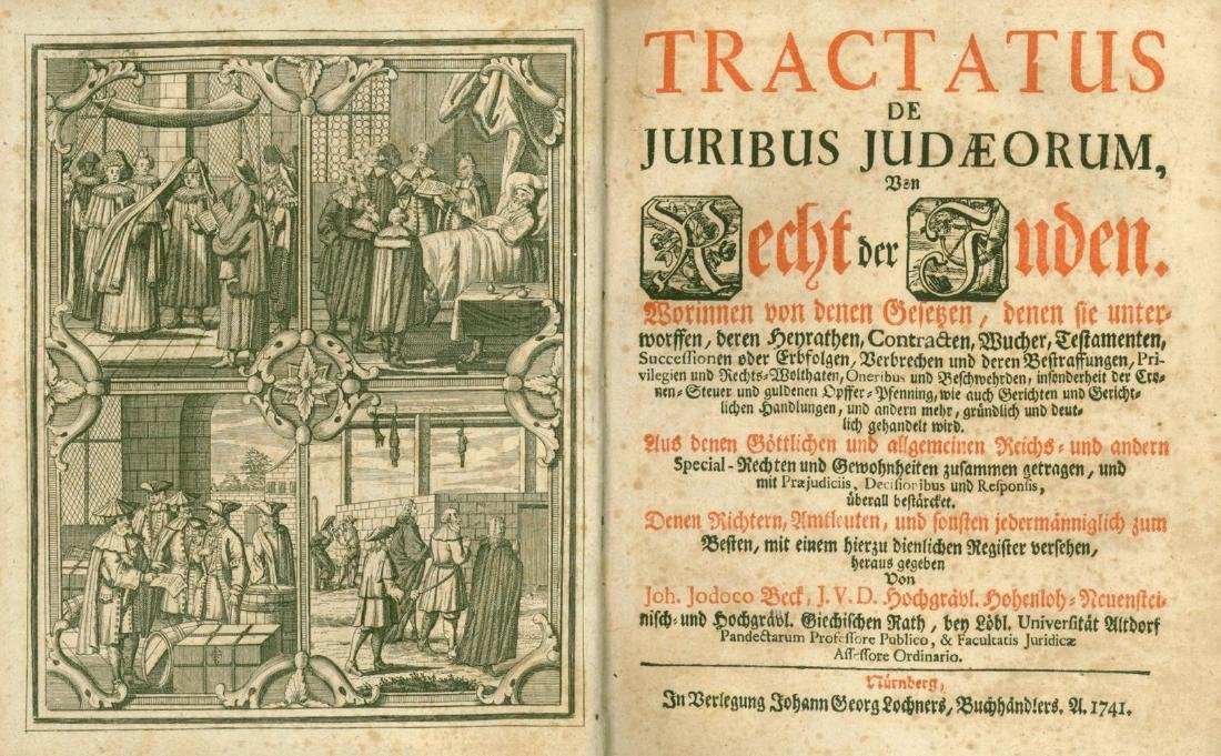 Study about Laws and Rights of Jews in Germany -