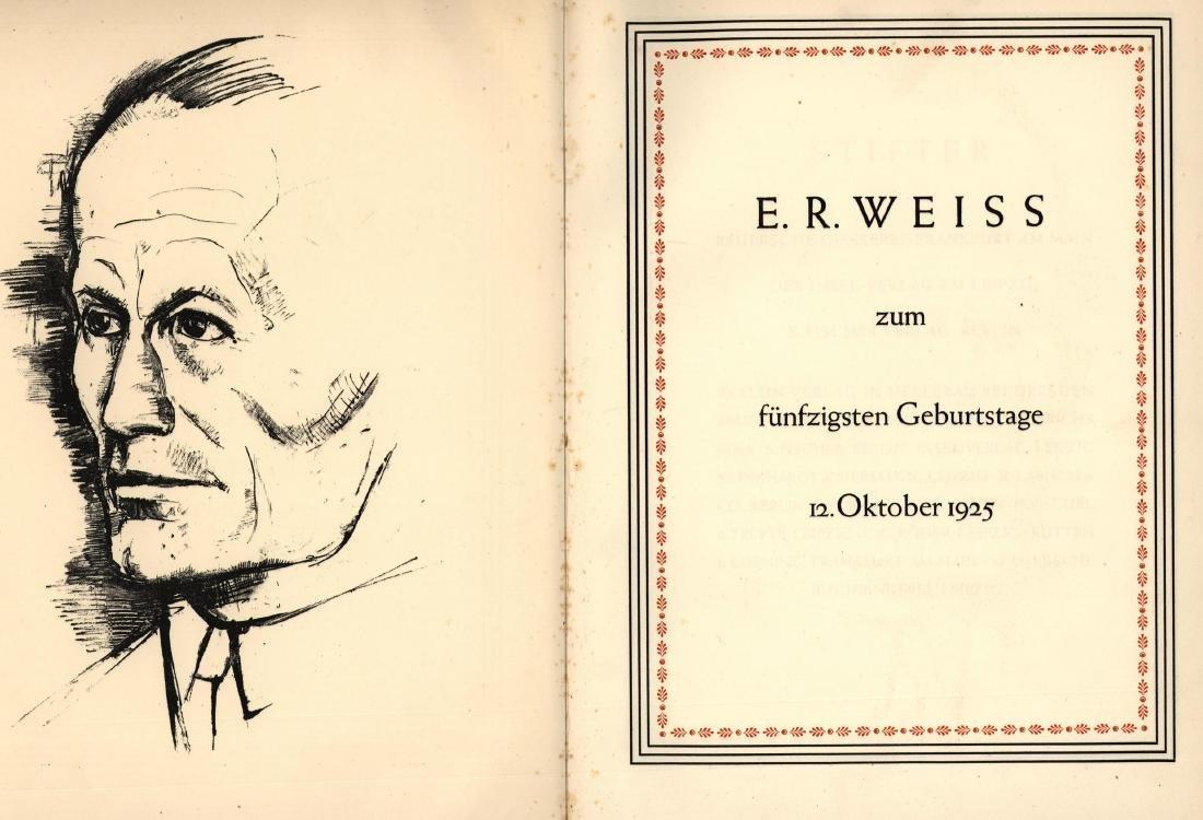 Jubilee Book - Emil Rudolph Weiss - Leipzig, 1925 -