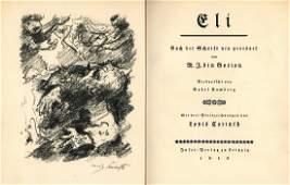 "Eli"" Lithographs by Lovis Corinth - Vellum Binding"