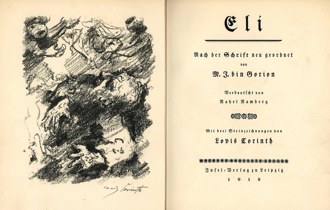 "Eli"" Lithographs by Lovis Corinth - Vellum Binding"