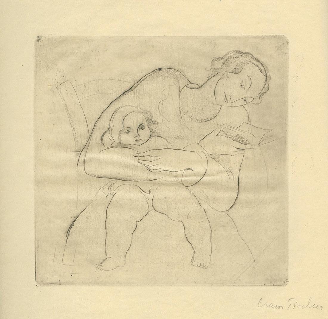 Monograph of the painter Viktor Tischler, 1924 - Signed