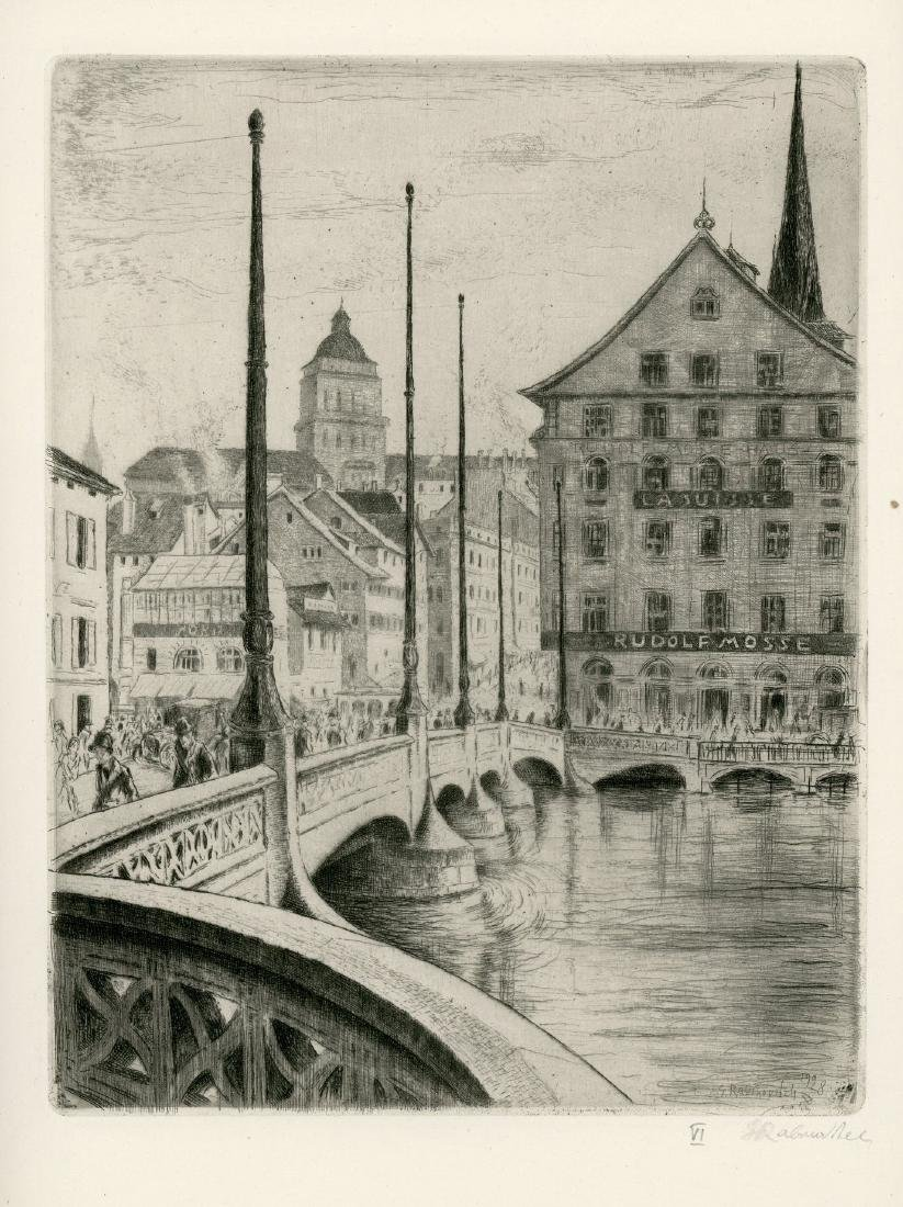 Zurich - Collection of Engravings by Gregor Rabinovitch