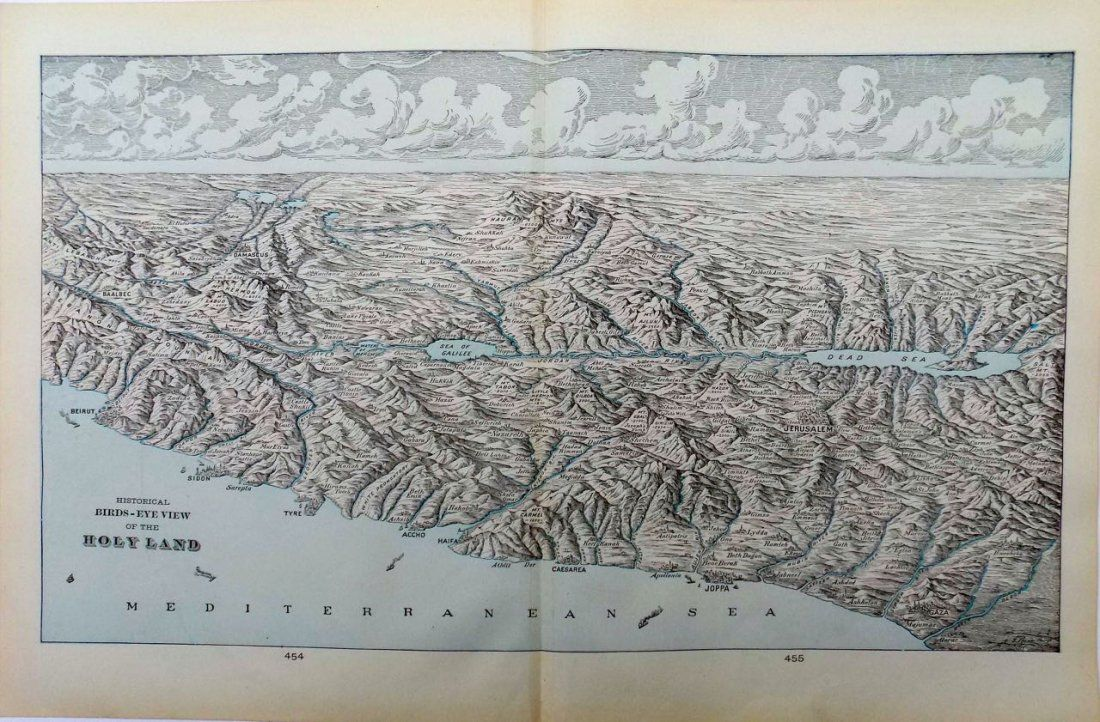 Bird's Eye View Israel & Holy Land, 1902