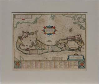 Map of Bermuda, by Hondius 1633