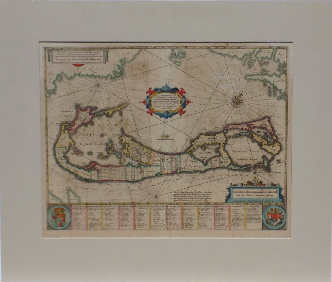 Map of Bermuda, by Hondius 1633