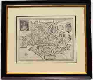 Nova Virginiae Tabula by Hondius, 1633 (John Smith)