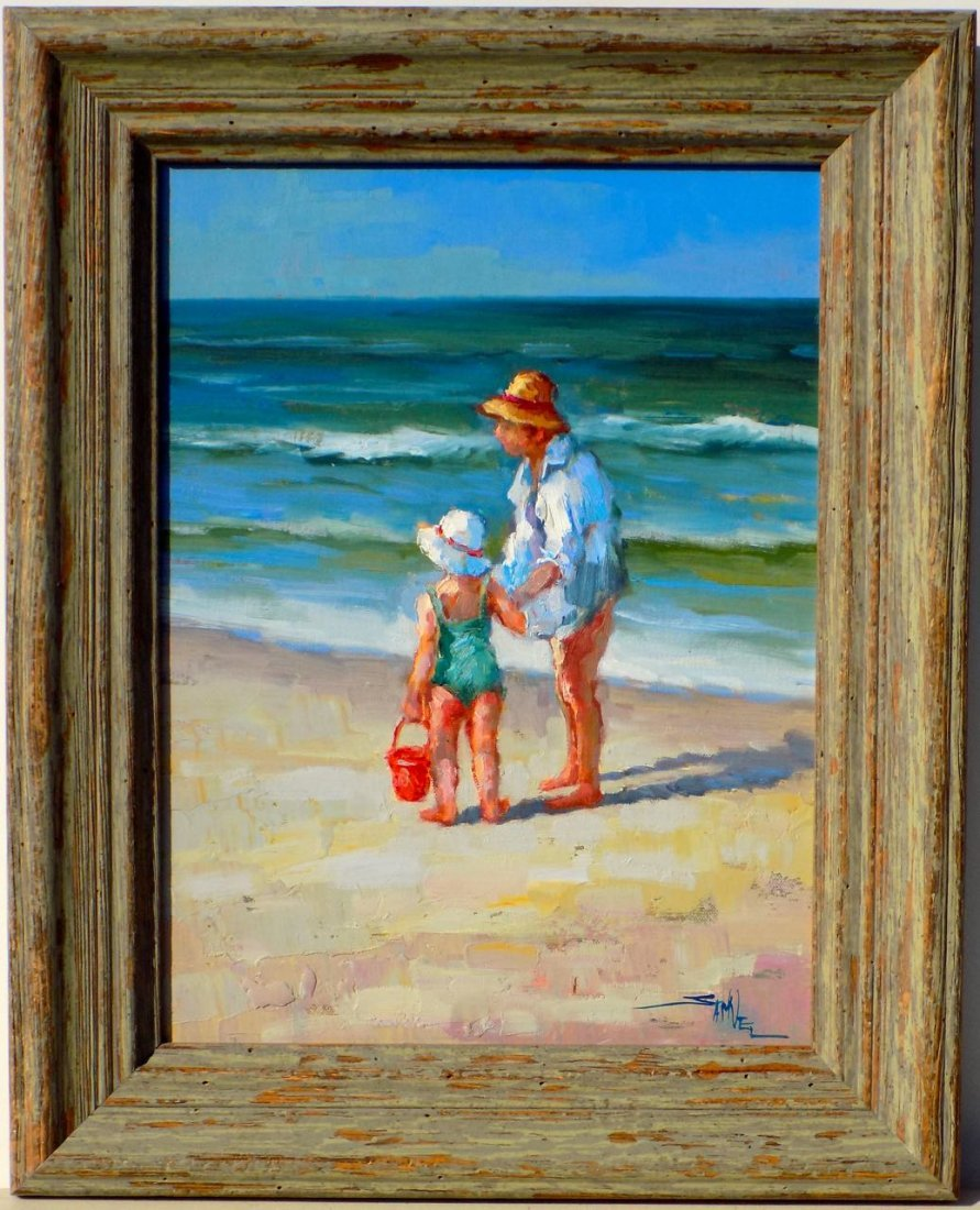Salt Air, Framed original oil on canvas