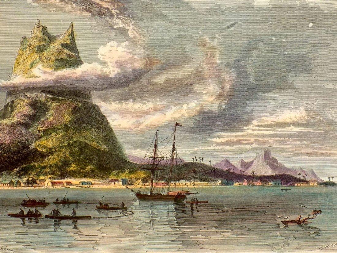 High Peak at Bora Bora, French Polynesia, 1880