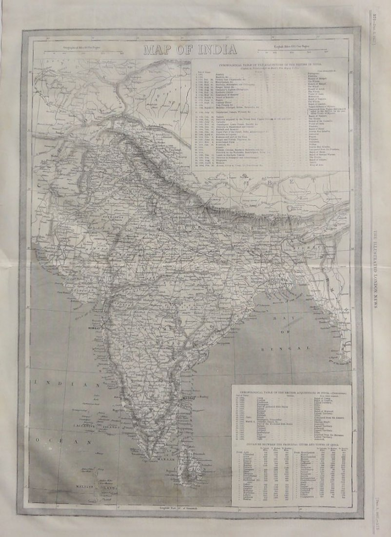Map of India, 1857