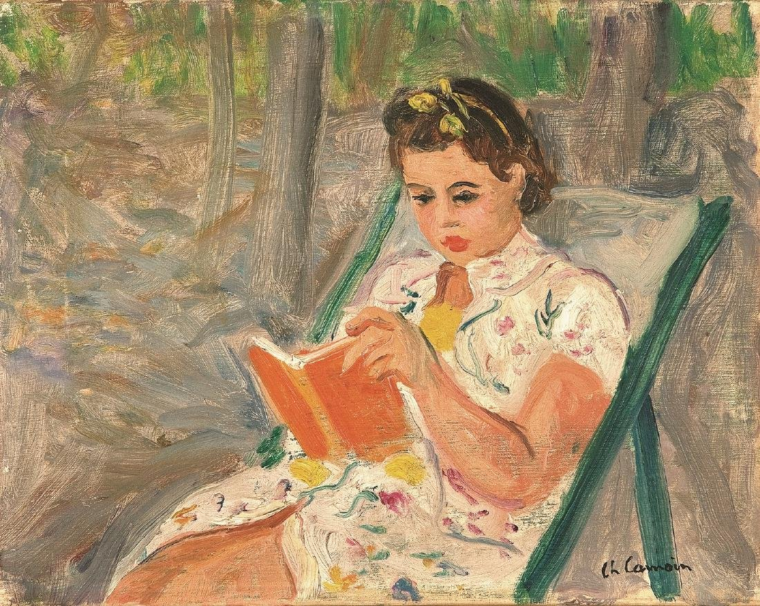 Charles CAMOIN (1879-1965 )  Jeune fille lisant