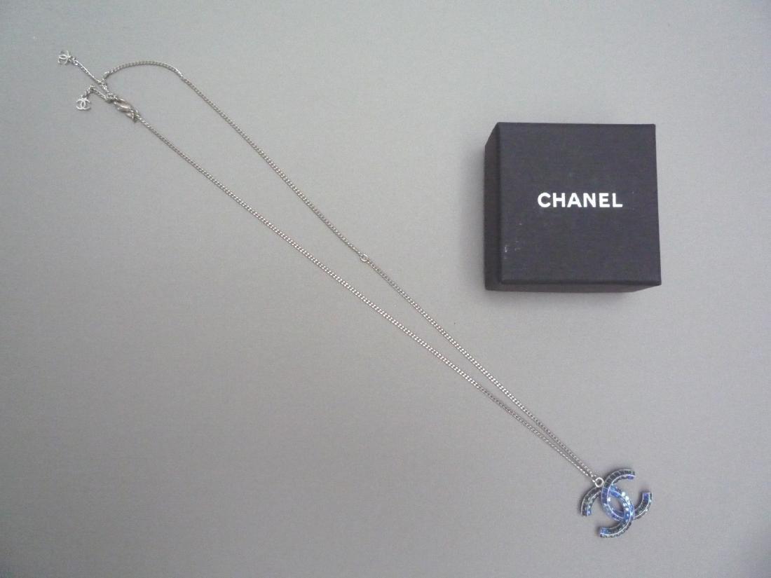CHANEL COLLIER chaîne (Chanel) en métal argenté - 3