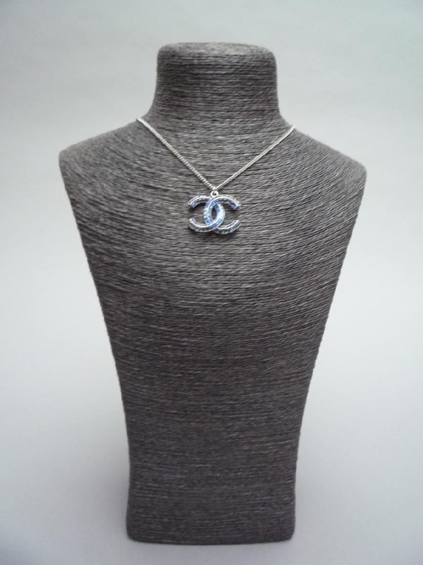 CHANEL COLLIER chaîne (Chanel) en métal argenté - 4