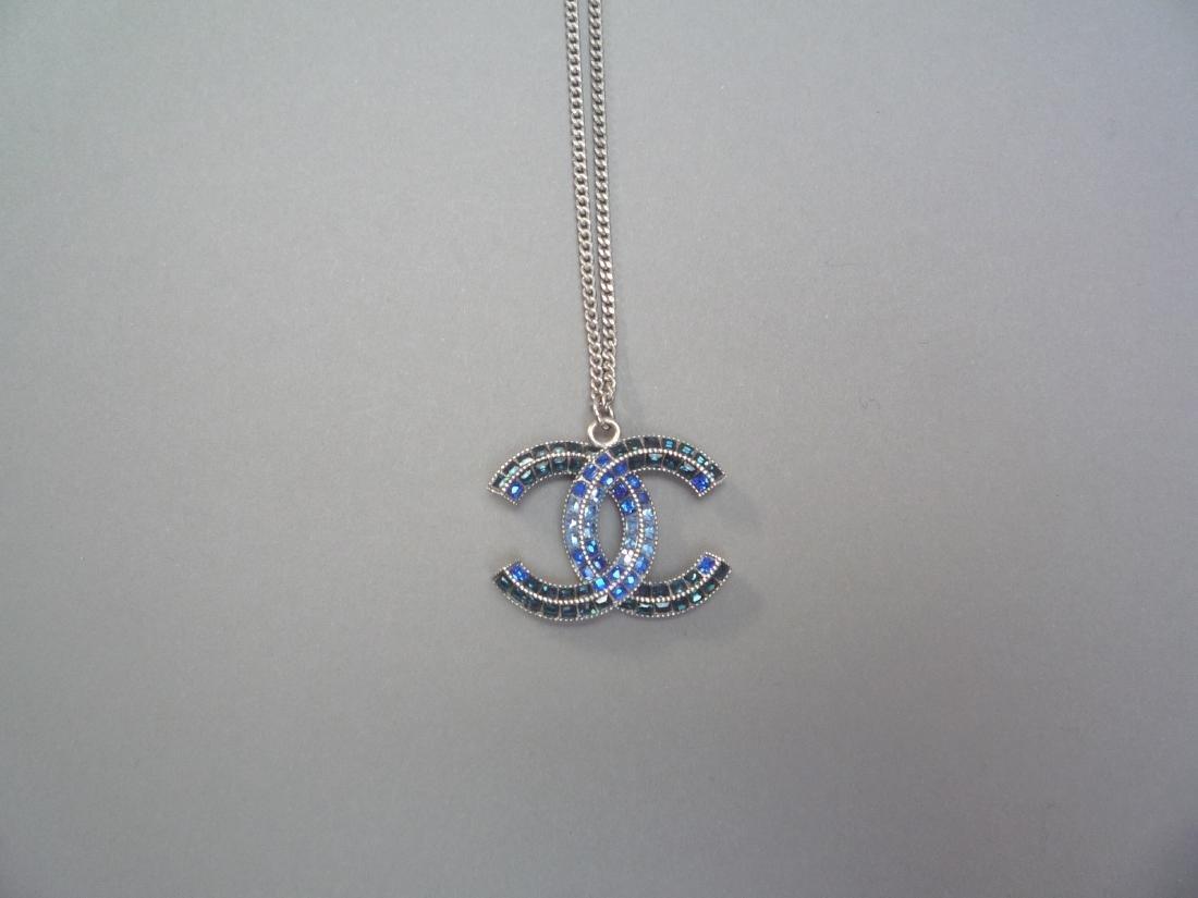 CHANEL COLLIER chaîne (Chanel) en métal argenté - 5