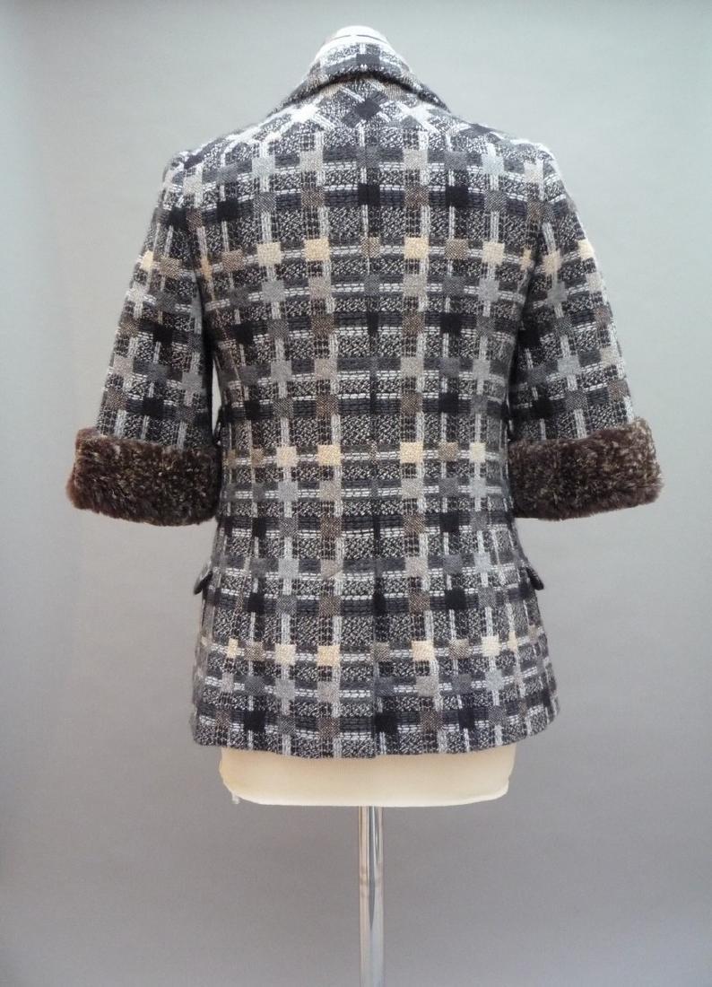 CHANEL  VESTE longue en tweed multicouleurs, laine et - 2