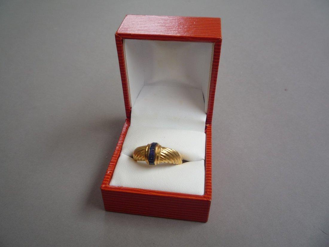 BAGUE en or jaune (750 millièmes) - 2