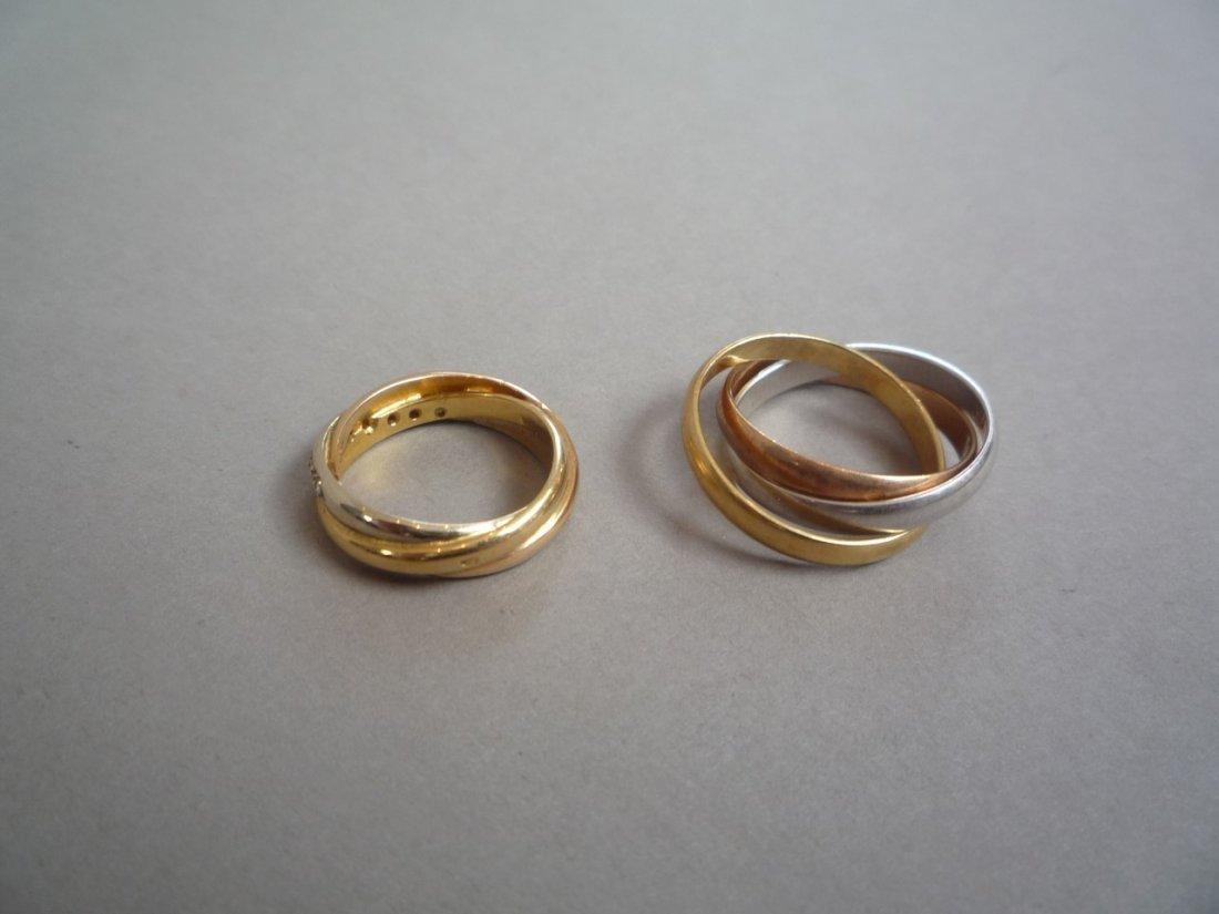 DEUX BAGUES en or jaune (750 millièmes), - 2