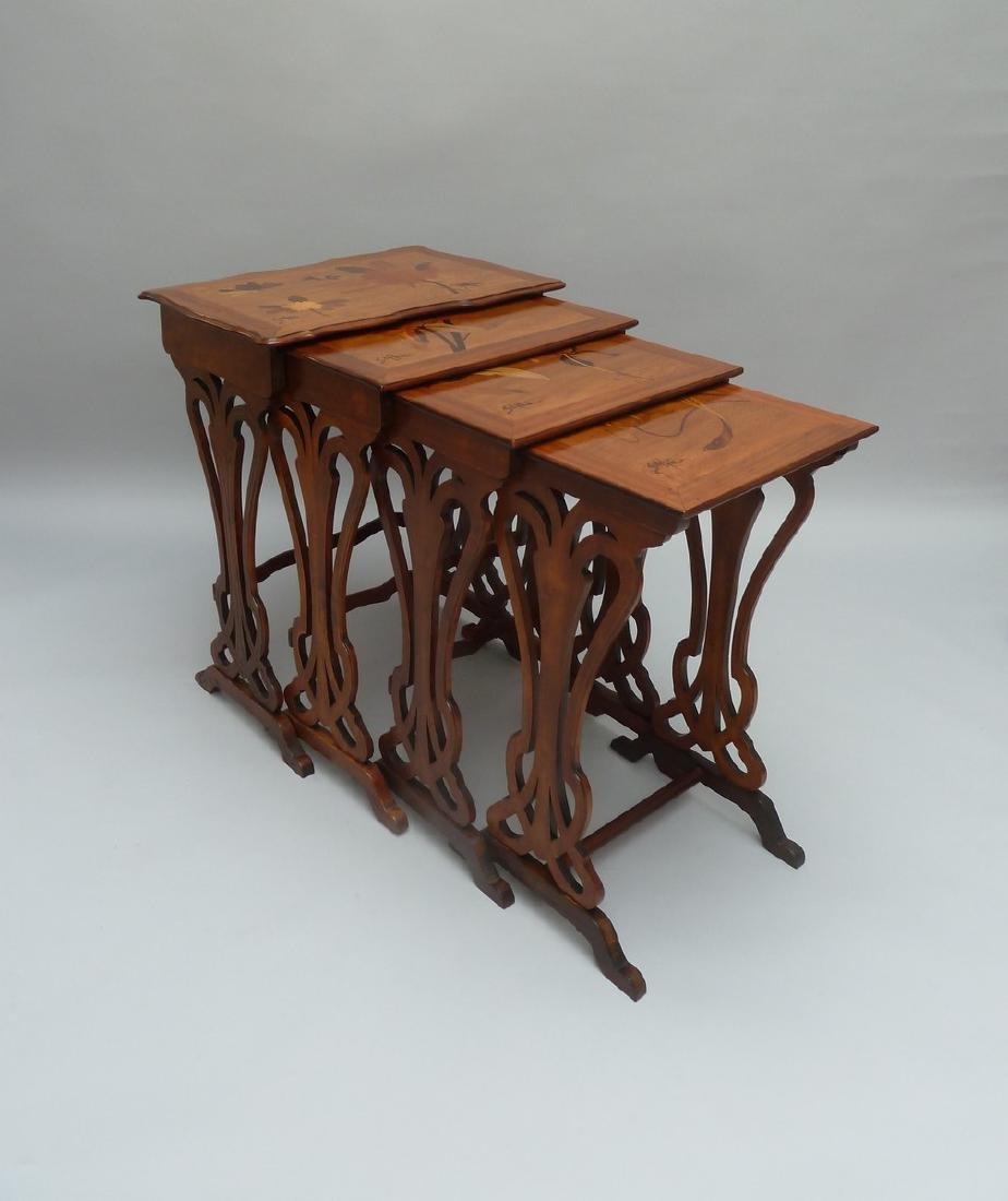 Émile GALLÉ (1846-1904)  Suite de quatre tables