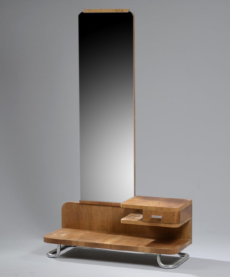 Jindrich HALABALA (1903-1978)   Coiffeuse en bois à un
