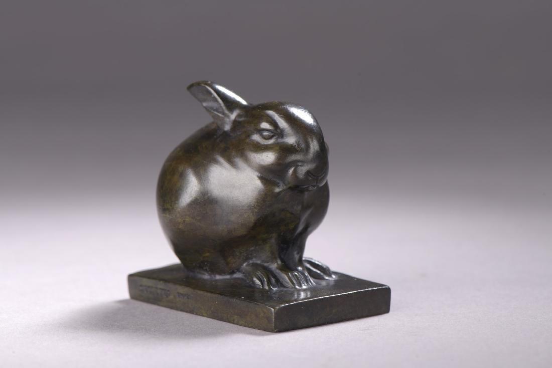 Edouard Marcel SANDOZ (1881-1971)  Lapin en boule
