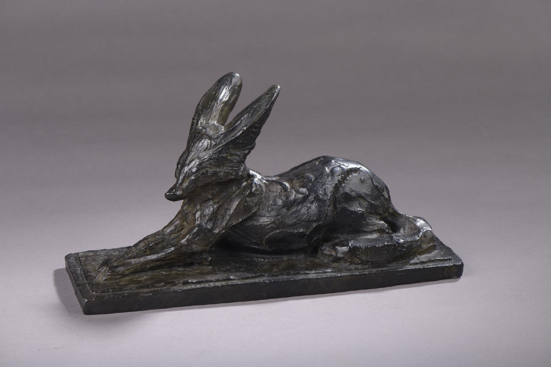 """Albéric COLLIN (1886-1962)   """"Fennec couché""""   Bronze"""