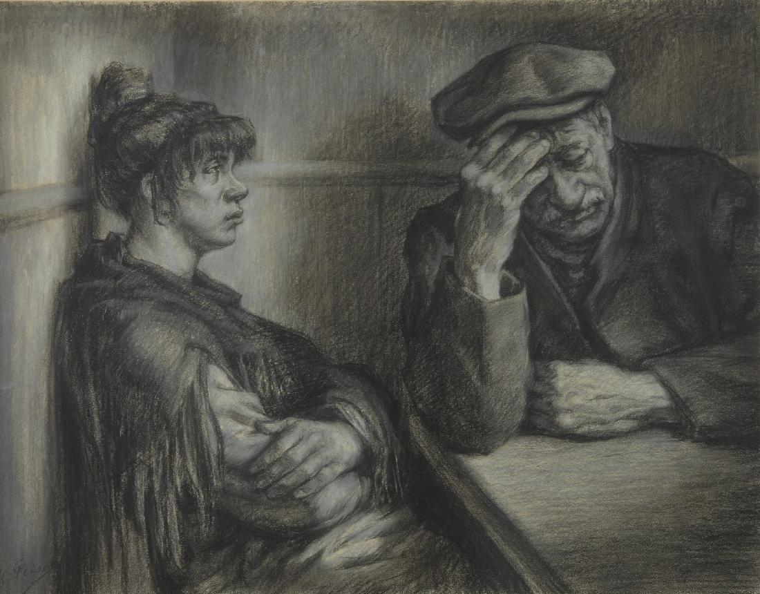 Kurt PEISER (1887-1962), école belge  Le couple