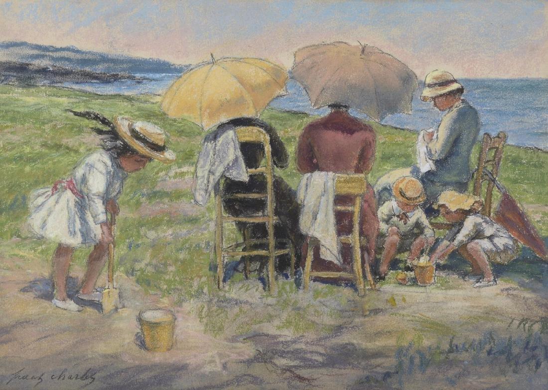 Franz CHARLET (1862-1928), école belge  Au bord de la