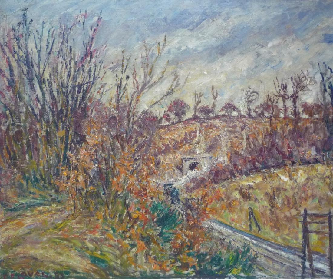 Fernand LAVAL (1886-1966)  Paysage  Huile sur toile,