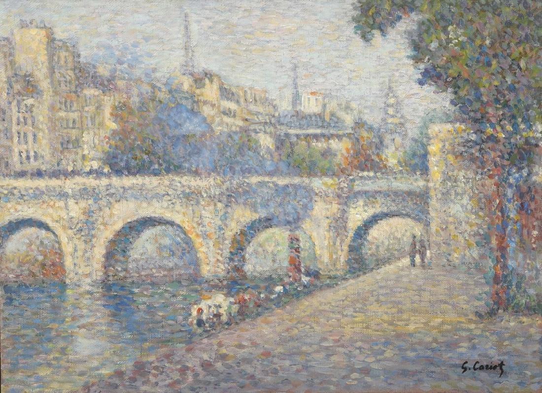Gustave CARIOT (1872-1950)  Paris, le pont Marie et