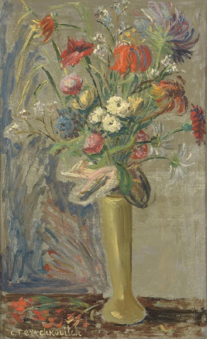 Constantin TERECHKOVITCH (1902-1978)  Vase de fleurs