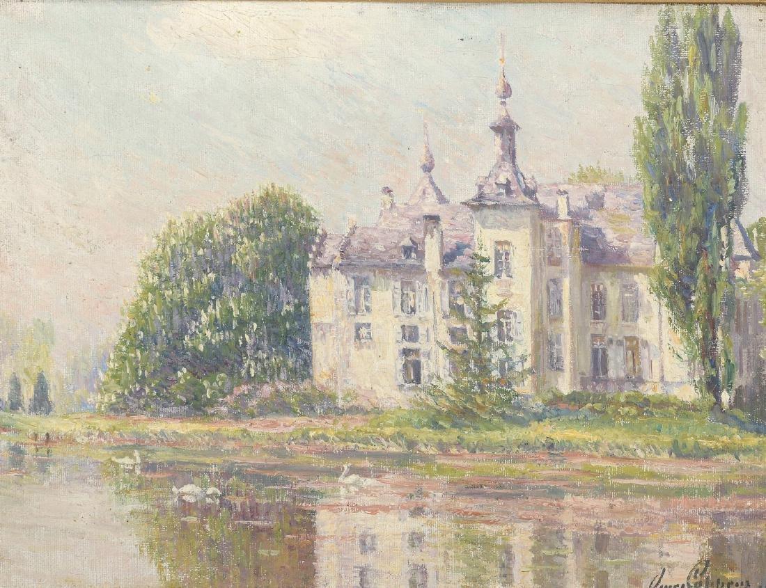 Omer COPPENS (1864-1926)  Le château de Wemmel  Huile