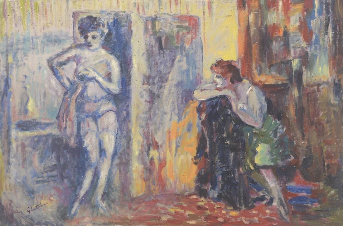Nicolas GLOUTCHENKO (1902-1977)   La toilette   Huile