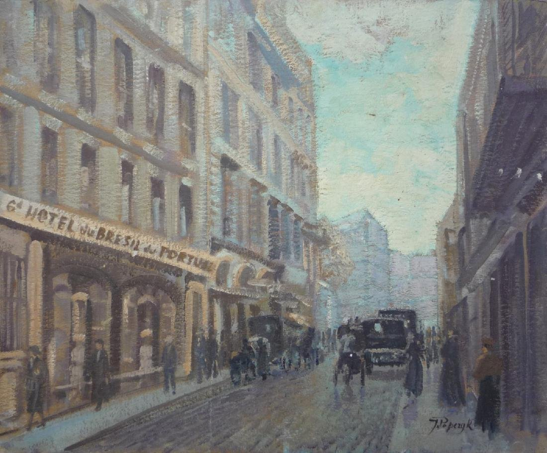 Jozef POPCZYK (1890-1971)  Rue de Montbelon, Paris