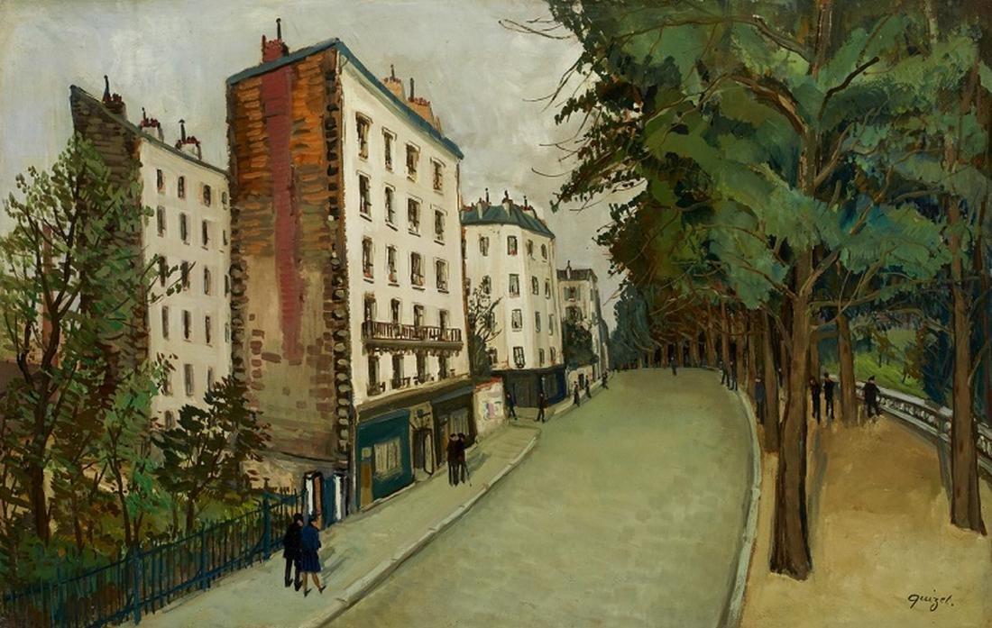 Alphonse Léon QUIZET (1885-1955 )  Buttes-Chaumont,