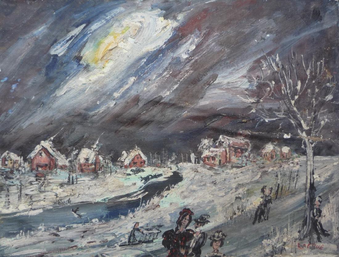Jean-Pierre LAGRUE (Né en 1939)  Paysage de neige