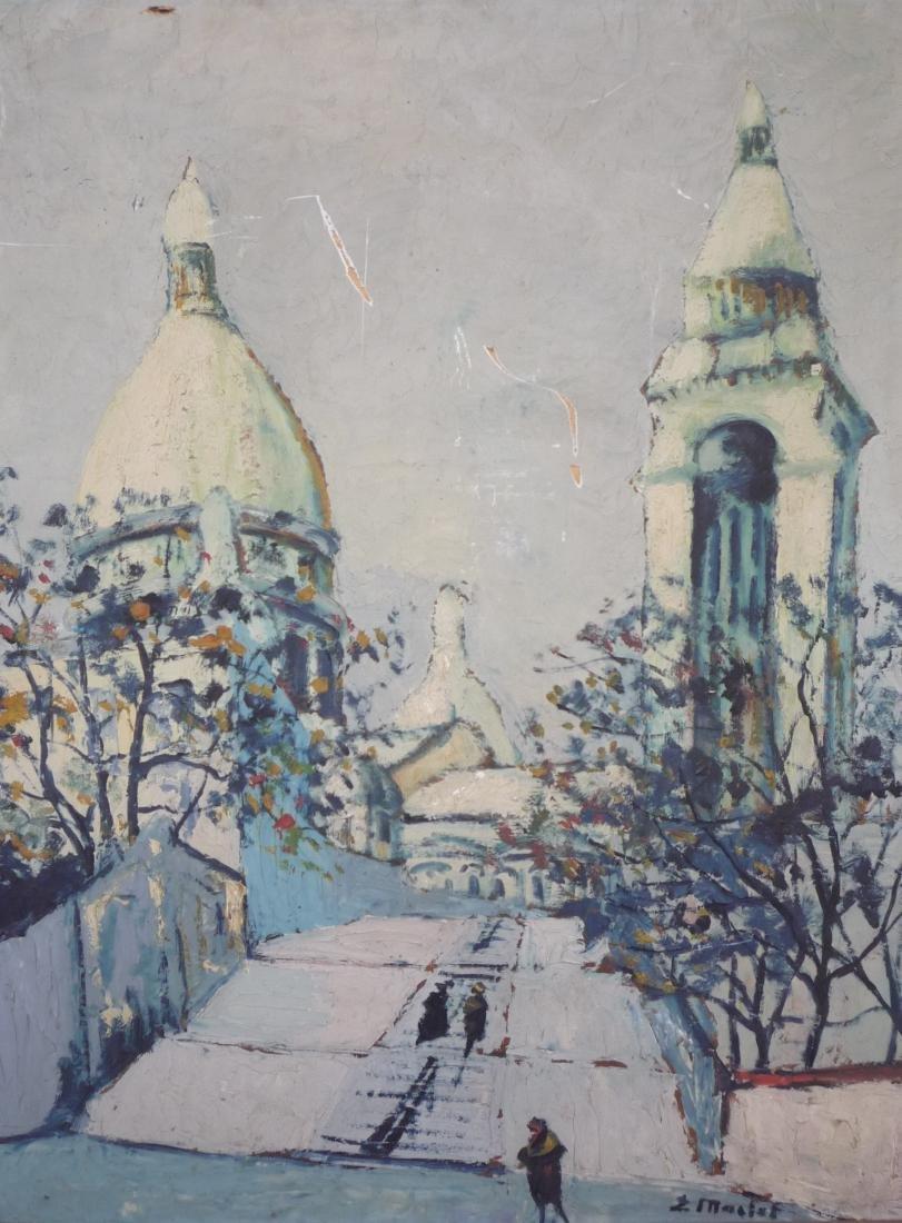 Elisee MACLET (1881-1962)  Ruelle à Montmartre, circa