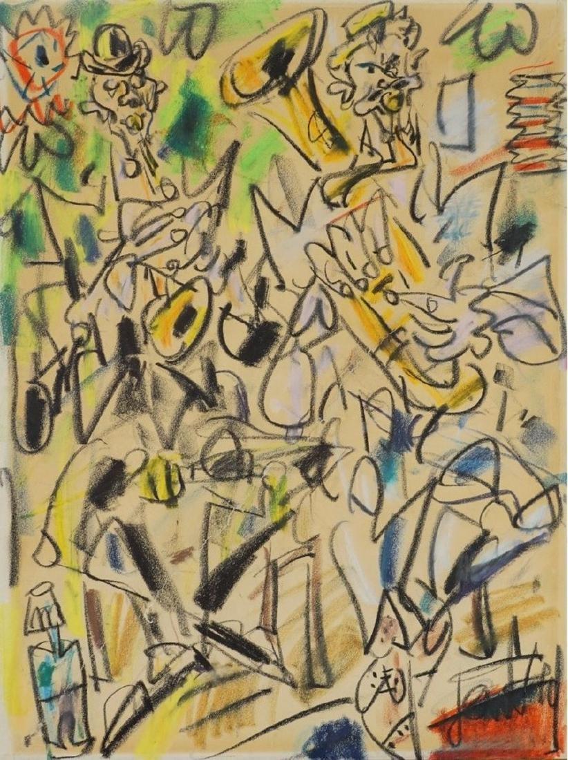 GEN-PAUL (1895-1975 )  Le concert  Crayons de couleur