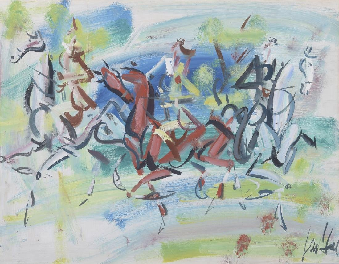 GEN-PAUL (1895-1975)  Les cavaliers  Aquarelle et